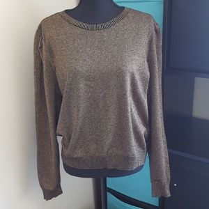 Gold and black lightweight Sweater